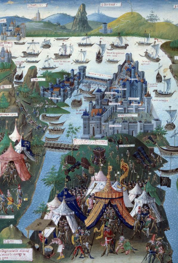 Η τελευταία πολιορκία της Κωνσταντινούπολης (γαλλική μινιατούρα, 15ος αιώνας)