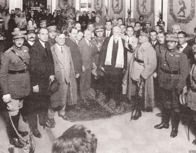 Ο Ελευθέριος Βενιζέλος στην 4η ΔΕΘ το 1929.
