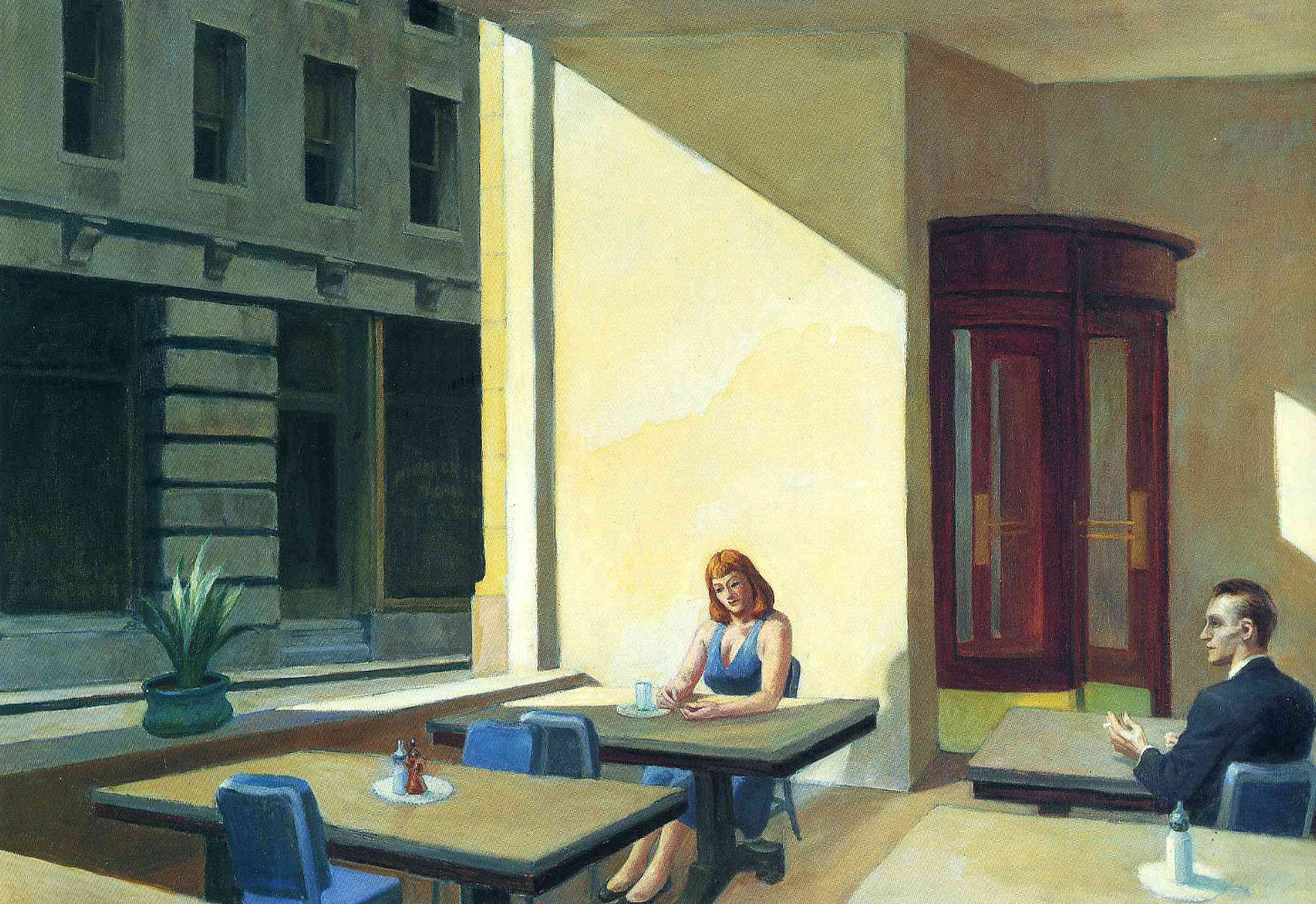 Sunlight in Cafeteria (1958), Πινακοθήκη Πανεπιστημίου Γέιλ (Νιού Χέιβεν, Κονέκτικατ, ΗΠΑ)