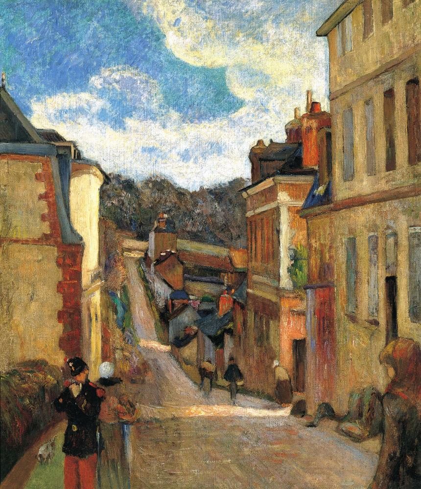 Οδός Ζουβενέ στην Ρουέν (1884) - Μουσείο Τίσεν-Μπορνεμίσα της Μαδρίτης