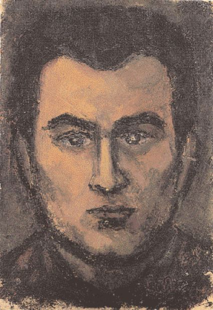 Aυτοπροσωπογραφία του Σκλάβου, λάδι σε ξύλο, 33x23 εκ., 1956