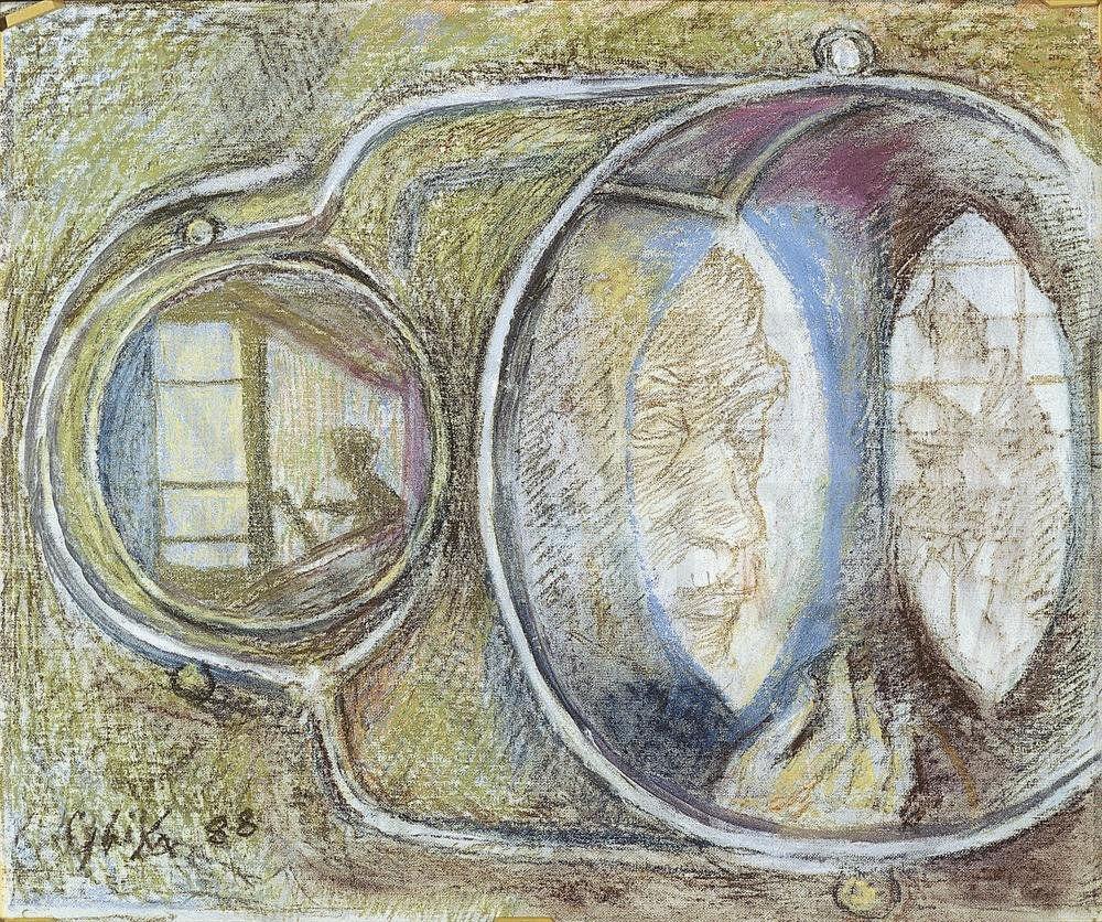 Αυτοπροσωπογραφία ανακλώμενη σε καθρέφτη (1988)