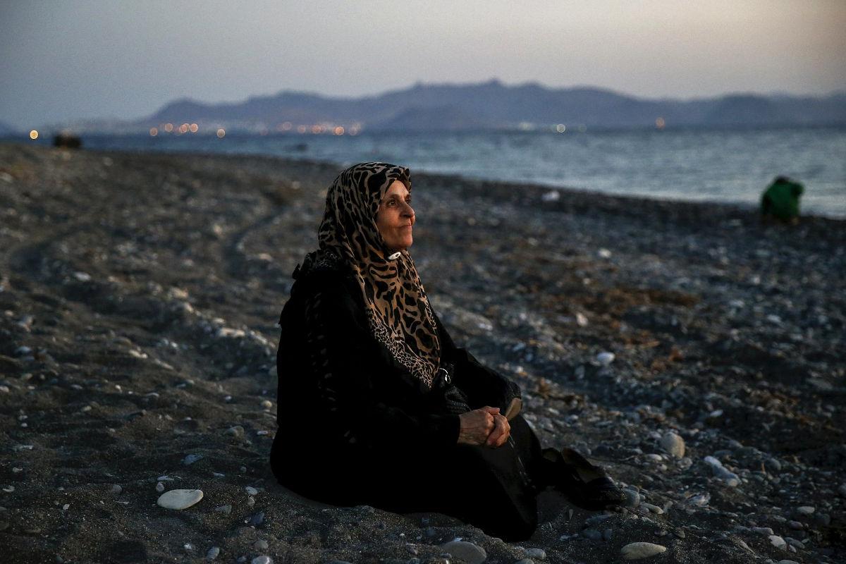 Γυναίκα τυφλή πρόσφυγας στην Κω (Αύγουστος 2015)