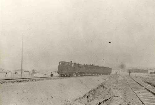 Ατμήλατος συρμός Αθηνών - Πειραιώς το 1891