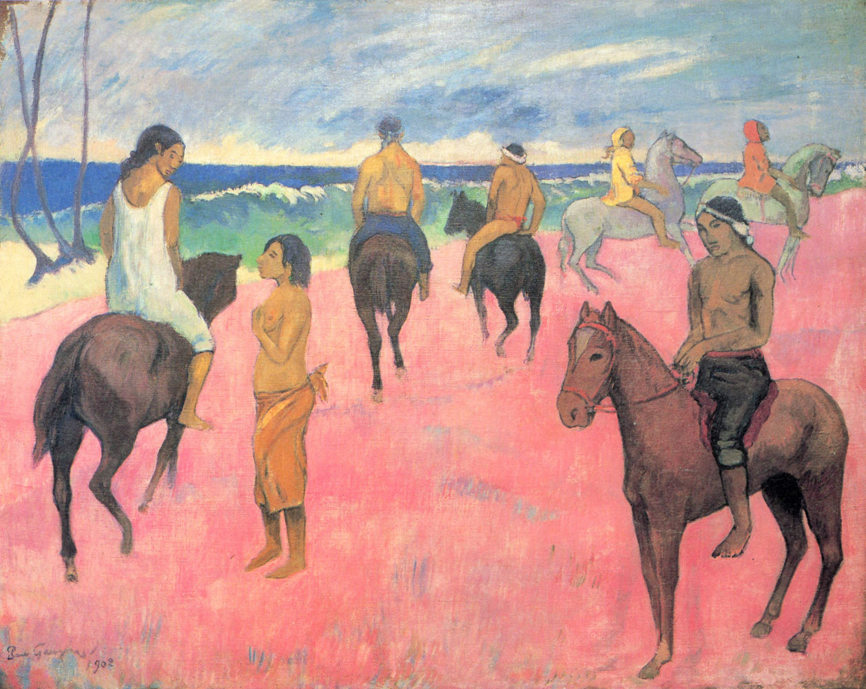 Καβαλλάρηδες στην παραλία (1902) - Συλλογή Σταύρου Νιάρχου
