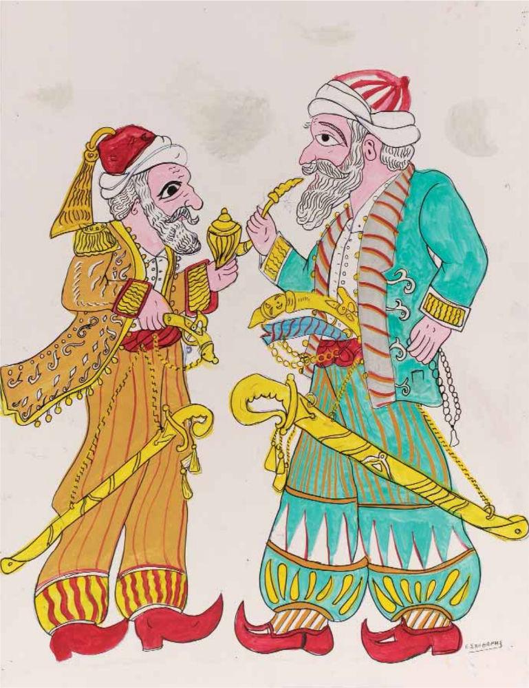 «Ο Αλή πασάς δίνει εντολές στον Ομέρ», ακρυλικό σε χαρτόνι, 87x70 εκ.
