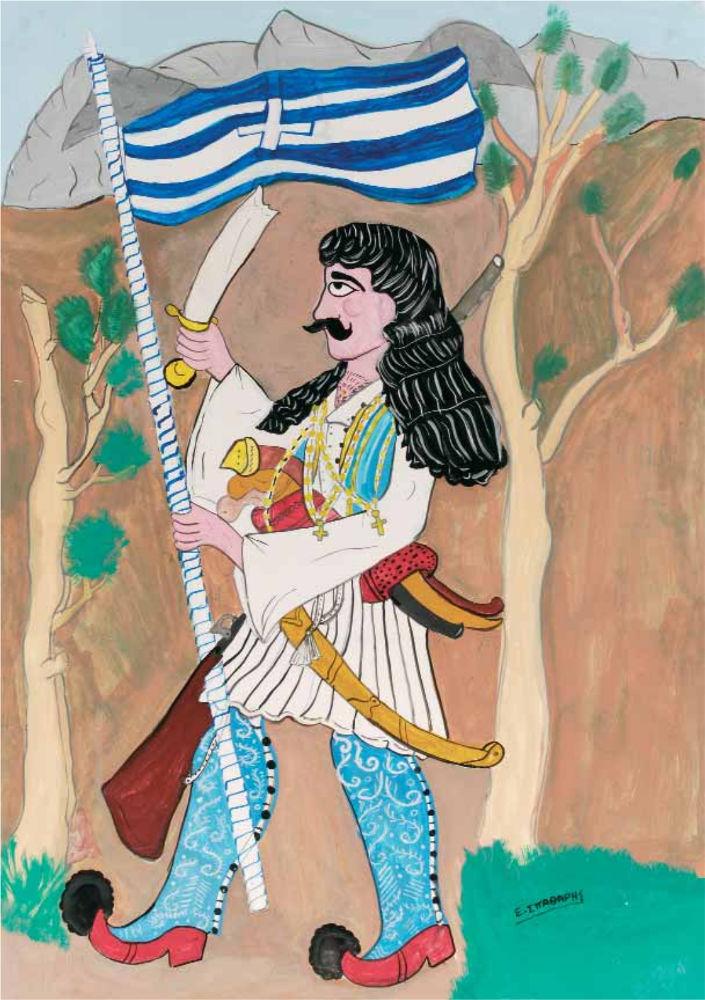 «Ο Αθανάσιος Διάκος», ακρυλικό σε χαρτόνι, 100x70 εκ.