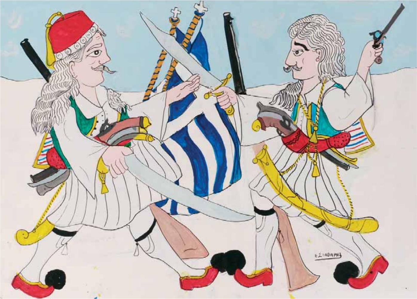 «Ο όρκος των Καπεταναίων», ακρυλικό σε χαρτόνι, 50x70 εκ.