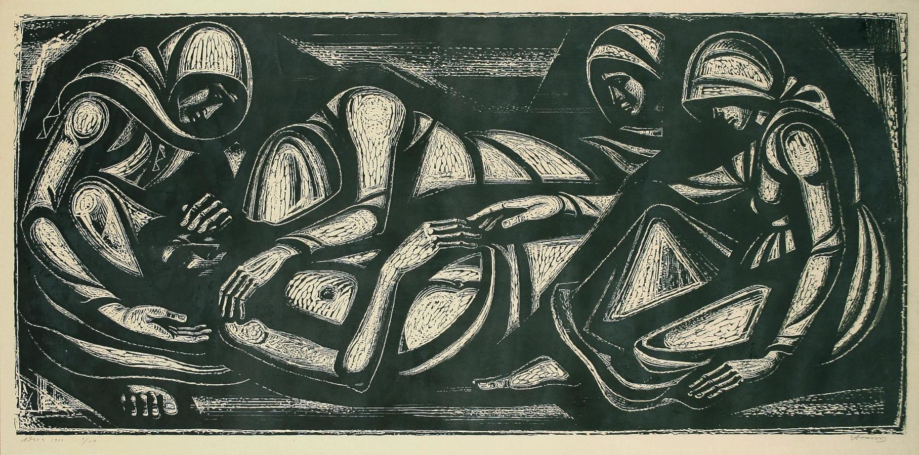 Εμφύλιος πόλεμος, λεπτομέρεια. Ο νεκρός, 1961