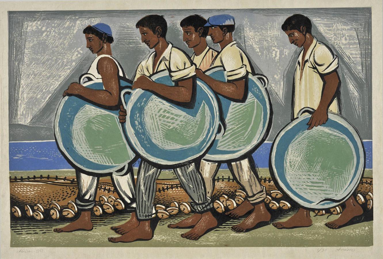Ψαράδες της Αίγινας, 1958