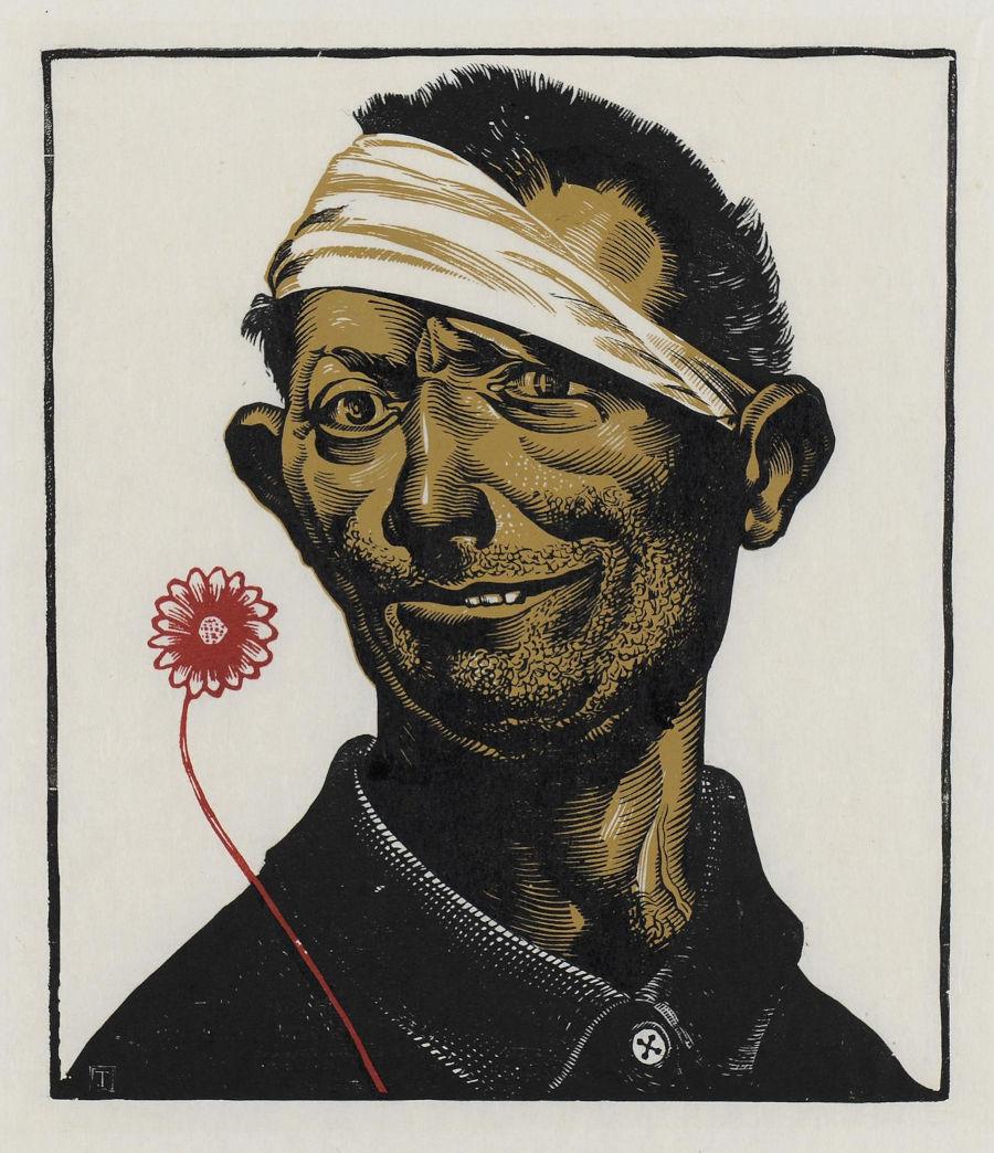 Ο τρελός με το κόκκινο λουλούδι, 1942 - 1943 (;)