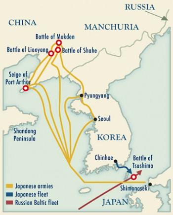 Αποτέλεσμα εικόνας για Ναυμαχία της Τσουσίμα. χαρτης