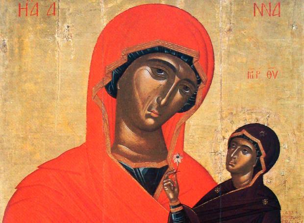 Εικόνα του Κρητικού αγιογράφου Γεωργίου Ακοτάντου (15ος αιώνας)