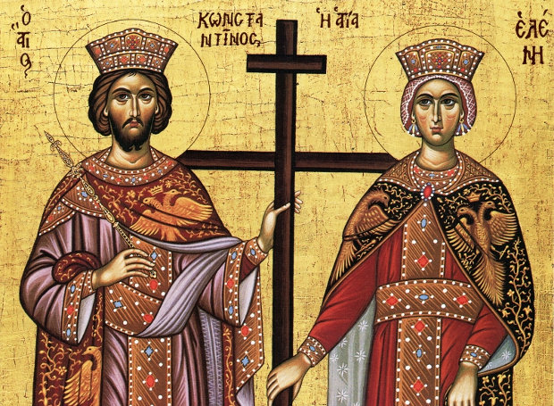 Image result for άγιοι κωνσταντίνος και ελένη