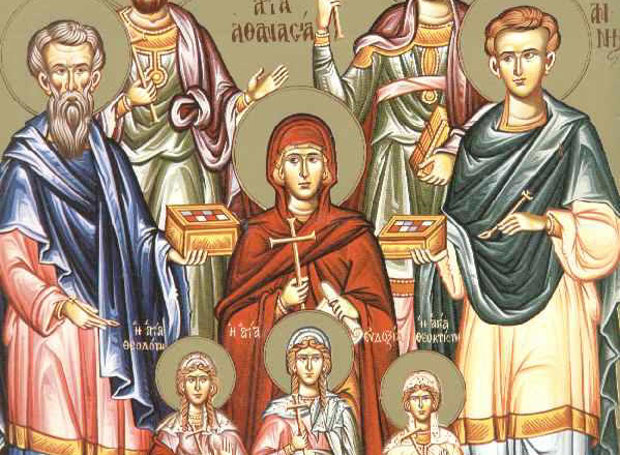 Αποτέλεσμα εικόνας για 31 Ιανουαρίου, των Αγίων Κύρου και Ιωάννου των Αναργύρων, και της Αγίας Αθανασίας και των Τριών θυγατέρων της, Θεοδότης, Θεοκτίστης και Ευδοξίας