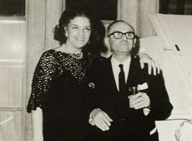 Ο Μίμης Κατριβάνος και η Άννα Καλουτά.