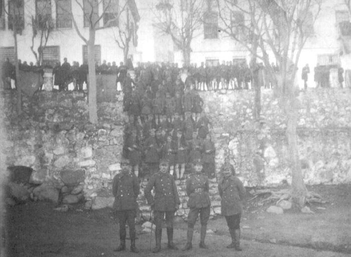 Ο Ελληνικός Στρατός στη Μονή Ταξιαρχών στις 4 Οκτωβρίου 1919, λίγο πριν μπει στην Ξάνθη