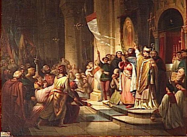 Ο αρχηγός της Δ' Σταυροφορίας, Βονιφάτιος ο Μομφερατικός