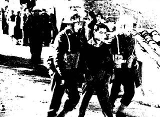Σύλληψη μαθητή από βρετανούς στρατιώτες