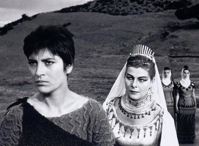 Με την Ειρήνη Παππά στην ταινία «Ηλέκτρα» (Φίνος Φιλμ, 1962)