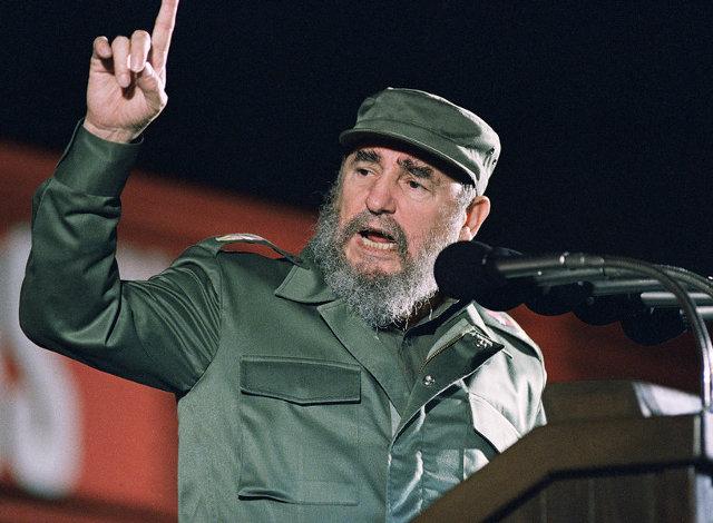 Ο κουβανός ηγέτης Φιντέλ Κάστρο, μιλώντας στην 30η επέτειο της κομμουνιστικής επανάστασης, την 1η Ιανουαρίου 1989 στην Αβάνα.
