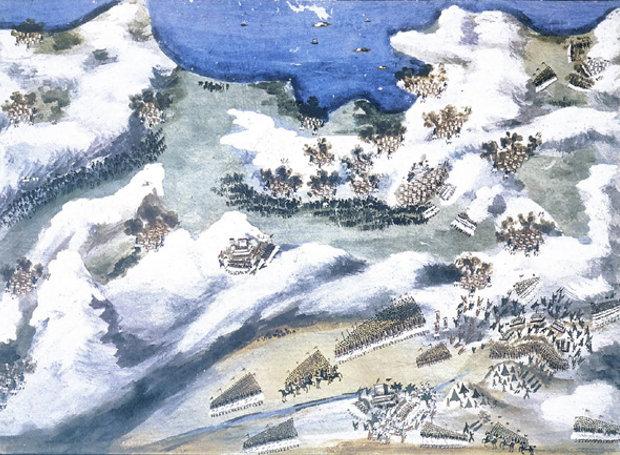 Η μάχη στο χάνι της Γραβιάς, πίνακας του Παναγιώτη Ζωγράφου