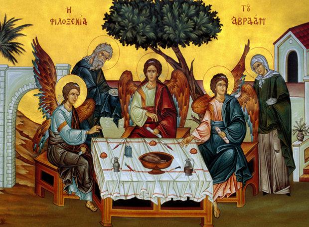Η Φιλοξενία του Αβραάμ (η Ορθόδοξη απεικόνιση της Αγίας Τριάδας)