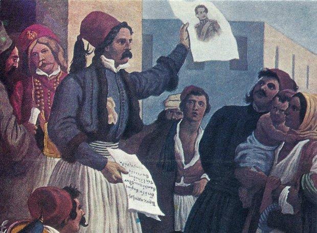 Ο Ιωάννης Κωλέττης αναγγέλλει την εκλογή του Όθωνα