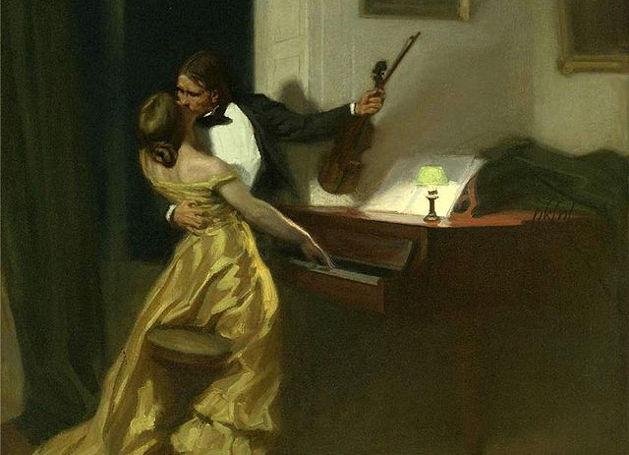 «Η Σονάτα του Κρόιτσερ», πίνακας του Ρενέ Φρανσουά Ξαβιέ Πρινέ