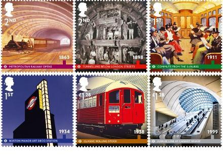 Σειρά γραμματοσήμων των βρετανικών ταχυδρομείων