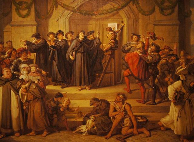 Η ανάρτηση των 95 θέσεων του Λούθηρου (Julius Hübner, 1878)