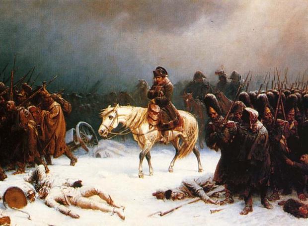 Ο Ναπολέων επιστρέφει από τη Μόσχα (Πίνακας του Άντ. Νόρθεν)