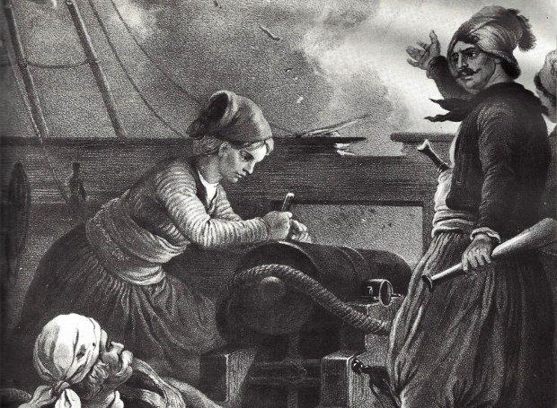 Ο Γεώργιος Σαχτούρης στη ναυμαχία της Σάμου (πίνακας του Πέτερ φον Χες)