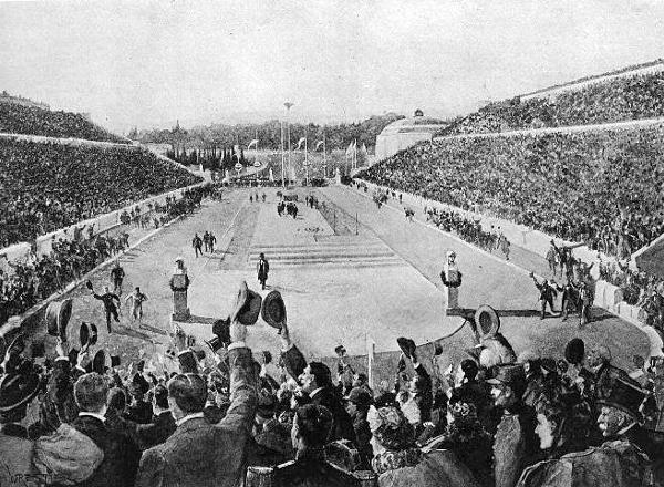 Η είσοδος του Λούη στο Ολυμπιακό στάδιο, το 1896