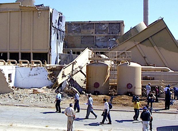 Οι κατεστραμμένες εγκαταστάσεις του Όσιρακ