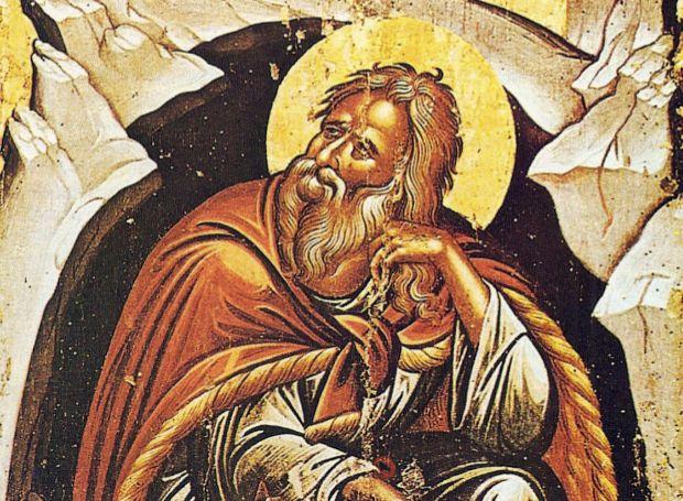 Ο Προφήτης Ηλίας. Έργο του Μιχαήλ Δαμασκηνού. (Μονή Σταυρονικήτα, Άγιον Όρος)