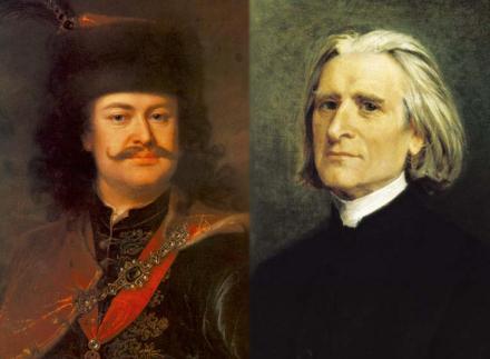 Φέρεντς Ράκοτσι (αριστερά) - Φραντς Λιστ (δεξιά)