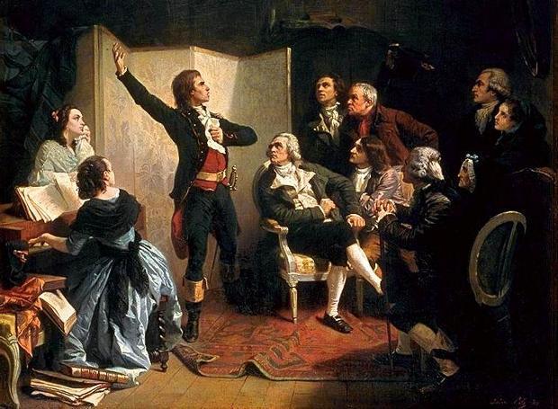 O Ρουζέ ντε Λιλ τραγουδά για πρώτη φορά τη Μασσαλιώτιδα (Πίνακας του Ισιντόρ Πιλς)