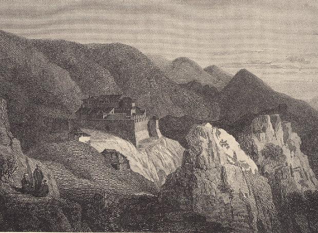 Το Σούλι, χαλκογραφία του Χ. Χόλαντ.