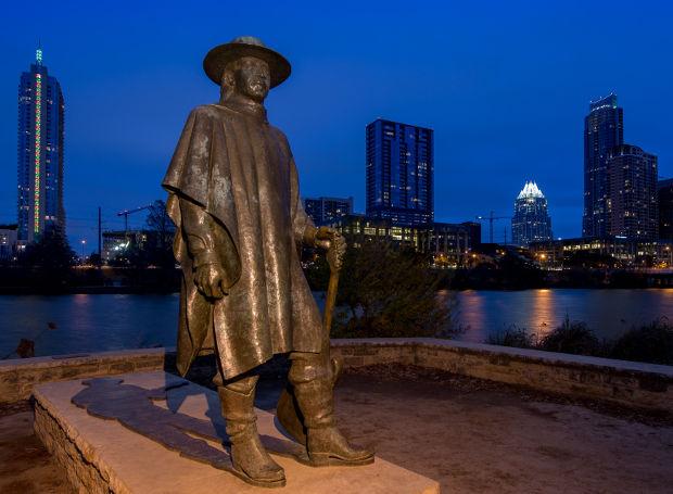 Μνημείο του Στίβι Ρέι Βον στο Όστιν του Τέξας