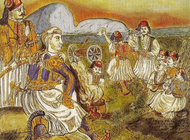 Ο Θεόδωρος Κολοκοτρώνης (Πίνακας του Θεόφιλου)