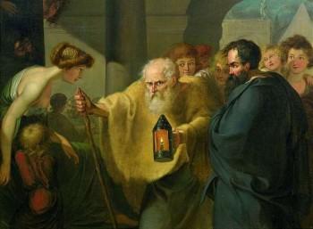 Ο Διογένης στην Ακαδημία Πλάτωνος