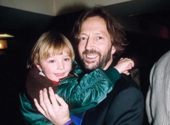 Ο Έρικ Κλάπτον με τον γιο του, Κόνορ