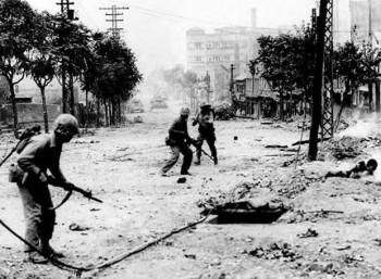 Μάχη στους δρόμους της Σεούλ