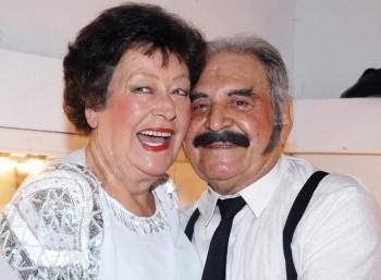 Η Ευαγγελία Σαμιωτάκη με τον σύζυγό της Σπύρο Καλογήρου