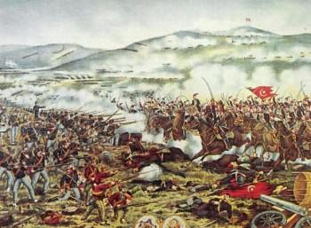 Η Μάχη του Βελεστίνου σε λαϊκή λιθογραφία